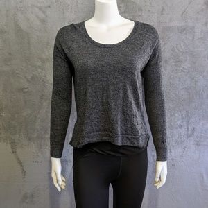 Madewell grey curved hem sweater